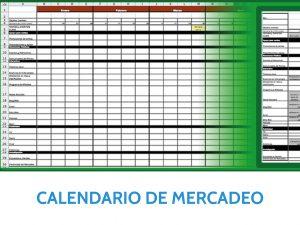 Calendario de mercadeo